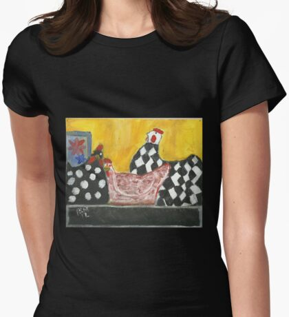 Some Painted Poultry:-) Womens Fitted T-Shirt