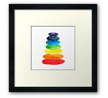 Watercolor  rainbow Framed Print