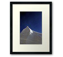 Snow Plow Mountain Framed Print