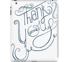 Thank You - Hand Lettering iPad Case/Skin