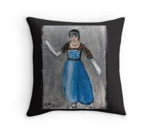 Modeling Her New Harem Outfit Throw Pillow