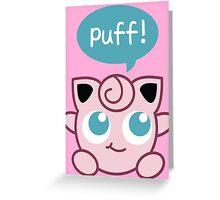 Jigglypuff Greeting Card