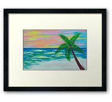 Sunset Ocean Framed Print