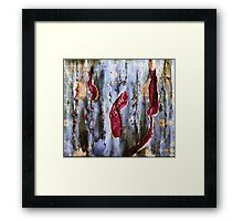 Wallpaper Decay Framed Print
