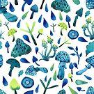 - Mushrooms pattern - by Losenko  Mila