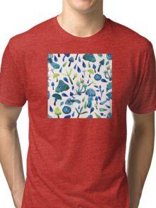 - Mushrooms pattern - Tri-blend T-Shirt