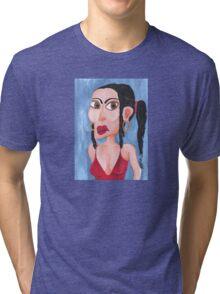 Sandra in her sexy singlet Tri-blend T-Shirt