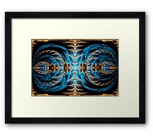 ©DA FS Golden And Blue Splits IAH. Framed Print