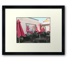 An Outside Cafe on Route 66 in Holbrook, Arizona. Framed Print