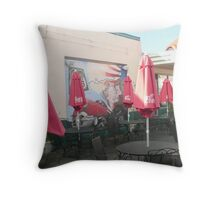 An Outside Cafe on Route 66 in Holbrook, Arizona. Throw Pillow