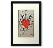 Three of Swords Tarot Framed Print