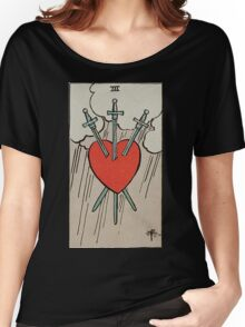 Three of Swords Tarot Women's Relaxed Fit T-Shirt
