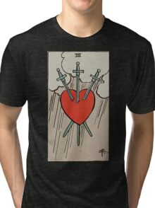 Three of Swords Tarot Tri-blend T-Shirt