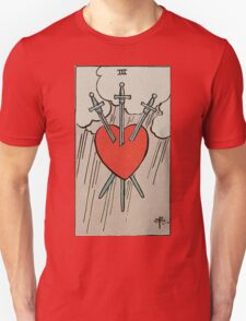 Three of Swords Tarot T-Shirt