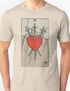 Three of Swords Tarot Unisex T-Shirt