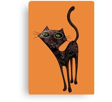 Black Cat of The Dead Canvas Print
