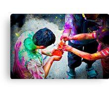 Sharing Colors, Sharing Happiness Canvas Print
