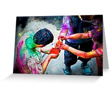 Sharing Colors, Sharing Happiness Greeting Card