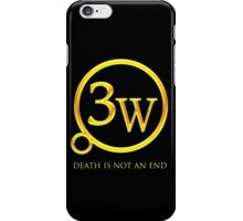 "3W Logo - ""Death is Not an End"" iPhone Case/Skin"