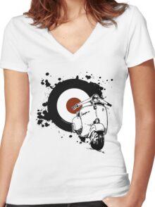 Soul Splatter GS Women's Fitted V-Neck T-Shirt