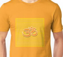 Aum symbol on textured background Unisex T-Shirt
