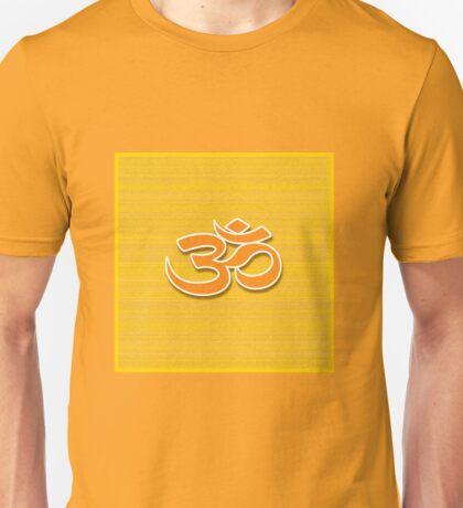 Aum symbol on textured background Unisex T-Shirt