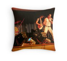 'QUEEN' Cover Band with Freddie Mercury. Throw Pillow