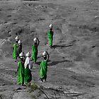 women, green by Loic Dromard