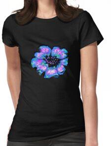 Blue Flower T Shirt Womens Fitted T-Shirt