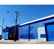 blue corner Photographic Print