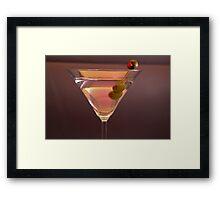 Martini Ad Framed Print
