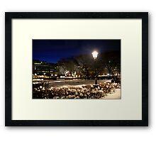 Square at night  (Stockholm, Sweden) Framed Print