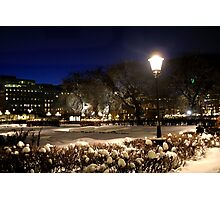 Square at night  (Stockholm, Sweden) Photographic Print