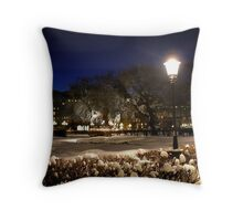 Square at night  (Stockholm, Sweden) Throw Pillow