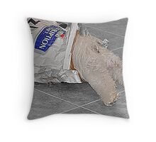 My Always Hungry Girl  Throw Pillow