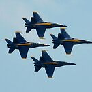 Blue Angels Diamond Formation  by Matsumoto