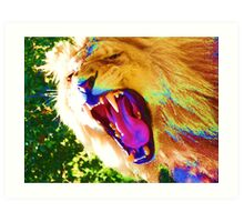Lion Teeth Art Print