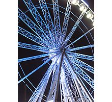 Round the wheel Photographic Print