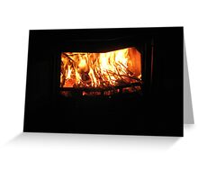 Burning Bright Greeting Card