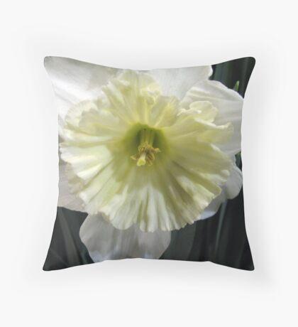 Ice Follies Daffodil Throw Pillow