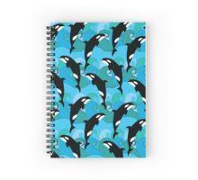 Killer Whale Pattern Spiral Notebook
