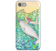 Travelling Unicorn Of The Sea iPhone Case/Skin