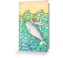 Travelling Unicorn Of The Sea Greeting Card