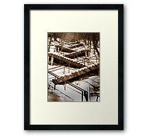 Stair Braid Framed Print