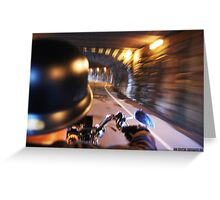 tunnel acoustics- harley davidson on the road Greeting Card