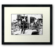bike shed with shotgun Framed Print