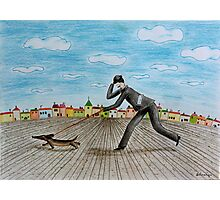 Walk with dog Photographic Print