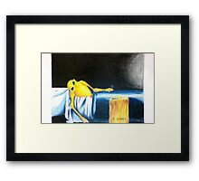 Death of Marat Parody Framed Print