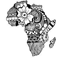 Africa ZenDoodle Photographic Print