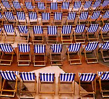 Deckchairs at Eastbourne Bandstand, East Sussex by Clive Gross